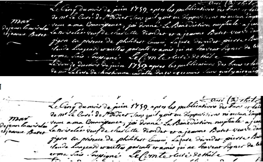 Doc Mariage de Jeanne Baret et Jean Lanoiselee